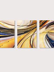 Недорогие -С картинкой Отпечатки на холсте - Абстракция Modern 3 панели