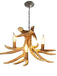 Недорогие -JSGYlights 3-Light Свеча-стиль Люстры и лампы Рассеянное освещение Окрашенные отделки Смола Новый дизайн 110-120Вольт / 220-240Вольт