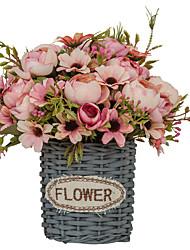 Недорогие -Искусственные Цветы 1 Филиал Односпальный комплект (Ш 150 x Д 200 см) Простой стиль Modern Суккулентные растения Букеты на стол