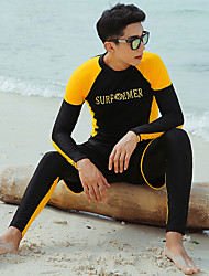 halpa -JIAAO Miesten Skin-tyyppinen märkäpuku Sukelluspuvut Pidä lämpimänä UV-aurinkosuojaus Full Body Etuvetoketju 3-osainen - Uinti Sukellus Vesiurheilu Yhtenäinen Syksy Kevät Kesä / Elastinen