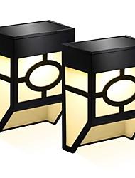 preiswerte -2pcs 0.5 W Solar-Wandleuchte Solar / Neues Design Warmes Weiß / Kühles Weiß 3.7 V Außenbeleuchtung / Hof / Garten 2 LED-Perlen