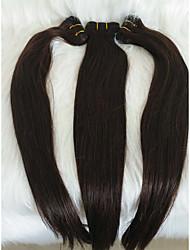 """billige -Fletning af hår Lige Udvidelse Menneskehår 1 Stykke Hårfletninger Mørkebrun 18"""" (46 cm) Dame / Ekstention / Tyk I-byen-tøj / Afslappet / Hverdag Brasiliansk hår"""