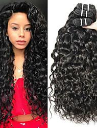 זול -3 חבילות שיער ברזיאלי Water Wave שיער ראמי טווה שיער אדם שיער Bundle תוספות שיער משיער אנושי 8-28 אִינְטשׁ צבע טבעי שוזרת שיער אנושי עיצוב אופנתי מתנה הגעה חדשה תוספות שיער אדם בגדי ריקוד נשים