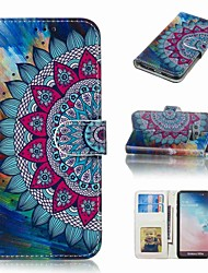 billiga -fodral Till Samsung Galaxy S9 Plus / S8 Plus Plånbok / Korthållare / Lucka Fodral Blomma Hårt PU läder för S9 / S9 Plus / S8 Plus