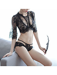 cheap -Women's Suits Nightwear - Lace Solid Colored