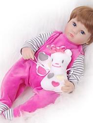 billige -FeelWind Reborn-dukker Babypiger 18 inch Silikone - Børn / Teen Yndig Smuk Børne Unisex Legetøj Gave