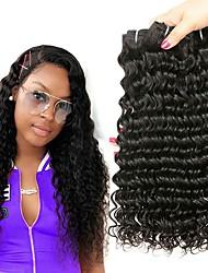 billige -4 pakker Brasiliansk hår Dyb Bølge Jomfruhår Menneskehår, Bølget Bundle Hair Én Pack Solution 8-28inch Naturlig Farve Menneskehår Vævninger Vandfald Lugtfri Skinnende Menneskehår Extensions Dame