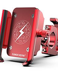 Недорогие -Крепление для телефона на велосипед Регулируется Противозаносный Anti-Shake для Шоссейный велосипед Горный велосипед Велосипеды для активного отдыха Aluminum Alloy Велоспорт Серебряный Красный Синий