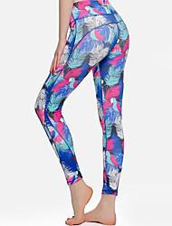 abordables -Femme Pantalon de yoga Noir Bleu Bleu clair Des sports Mode Collants Course / Running Fitness Entraînement de gym Tenues de Sport Poids Léger Respirable Evacuation de l'humidité Séchage rapide Haute