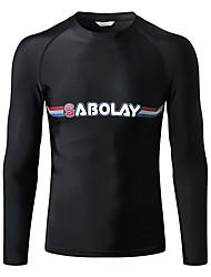 tanie -SABOLAY Męskie Docieplacze Oddychający Ultra lekki (UL) Chinlon Elastyna Długi rękaw Stroje kąpielowe Stroje plażowe Doły Solidne kolory Pływacki Nurkowanie z rurką / Średnio elastyczny
