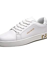 رخيصةأون -رجالي النعال الخفيفة PU الصيف رياضي / كاجوال أحذية رياضية متنفس أبيض / أسود