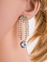 cheap -Women's Silver Gold Geometrical Drop Earrings Imitation Diamond Earrings Tree of Life European Jewelry Gold / Silver For Daily 1 Pair