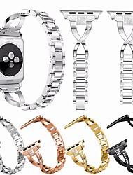 voordelige -Horlogeband voor Apple Watch Series 4/3/2/1 Apple Sieradenontwerp Metaal Polsband