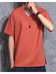 abordables -Hombre Camiseta Un Color Rojo XL