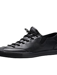 رخيصةأون -رجالي أحذية الراحة Leather نابا الربيع أحذية رياضية أبيض / أسود