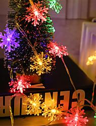 Недорогие -1 компл. Светодиодный фонарь снежинка свет шнура 10 м 100 свет моделирования огни рождественские огни строки декоративные огни строки ночные огни