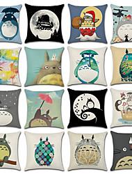 Недорогие -1 штук Хлопок / Лён Наволочка, 3D-печати Животное Мода Рождество Бросить подушку