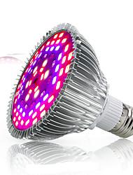 Недорогие -1pc полный спектр 78leds 42red18blue6white6ir6uv e27 led grow light smd5730 лампа для посева растений ac85-265v