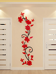 cheap -Decorative Wall Stickers - 3D Wall Stickers Floral / Botanical Indoor