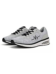 cheap -Men's Comfort Shoes Mesh / Elastic Fabric Spring Sporty Athletic Shoes Running Shoes Non-slipping Color Block Black / Gray / Blue