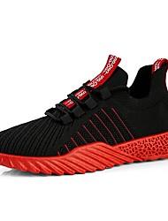 رخيصةأون -رجالي النعال الخفيفة شبكة الصيف رياضي / كاجوال أحذية رياضية الركض / المشي متنفس أبيض / أسود / أحمر / أسود وأصفر.