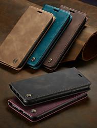 Недорогие -Caseme чехол магнитный флип кошелек чехол для телефона ретро сплошные цветные слоты для карт в твердом переплете с подставкой для iphone x / xs max / xr / 7/8 plus / 6 / 6s plus / 5 / 5s / se