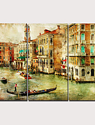 cheap -Print Stretched Canvas Prints - Modern Realism Classic Modern Three Panels