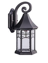 Χαμηλού Κόστους -QINGMING® Αδιάβροχη / Mini Style Ρετρό / Χώρα Φωτιστικά Εξωτερικών Τοίχων Υπαίθριο / Κήπος Μέταλλο Wall Light IP65 110-120 V / 220-240 V 60 W
