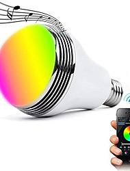 Недорогие -1шт 12 W Умная LED лампа 700 lm E26 / E27 24 Светодиодные бусины SMD 5050 Контроль APP Bluetooth Для вечеринок RGBW 100-240 V