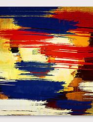 olcso -Hang festett olajfestmény Kézzel festett - Absztrakt Modern Tartalmazza belső keret
