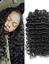 economico -6 pacchi Brasiliano Molto ondulata capelli naturali Remy Ciocche a onde capelli veri Bundle di capelli Un pacchetto di soluzioni 8-28inch Colore Naturale Tessiture capelli umani Neonato Cascata Carino