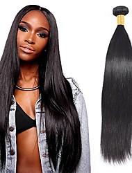 olcso -6 csomag Brazil haj Egyenes 100% Remy hajszövési csomó Az emberi haj sző Bundle Hair Egy Pack Solution 8-28 hüvelyk Természetes szín Emberi haj sző Élet Puha Vastag Human Hair Extensions Női