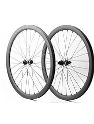 """Недорогие -FARSPORTS 27.5"""" Колесные пары Велоспорт 30 mm Шоссейный велосипед Углеродное волокно Подходит для клинчерной покрышки / бескамерной шины 28/28 Спицы 40 mm"""