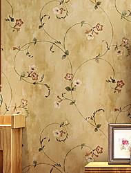 رخيصةأون -ورق الجدران محبوكة تغليف الجدران - لاصق المطلوبة الأزهار / النباتية