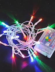 billige -2m Lysslynger 20 LED Varm hvit / RGB / Hvit Kreativ / Fest / Passer for kjøretøy Batterier drevet 1pc