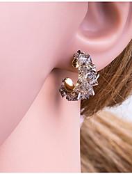 cheap -Women's Multicolor Geometrical Stud Earrings Earrings Korean Jewelry White / Gray For Daily 1 Pair