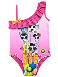ราคาถูก -ชุดว่ายน้ำ ชุดว่ายน้ำชุดคอสเพลย์ สาวบี สำหรับเด็ก คอสเพลย์และคอสตูม คอสเพลย์ วันฮาโลวีน สีม่วง / สีบานเย็น / สีชมพู ลายจุด การ์ตูน Polyster เด็กผู้หญิง วันคริสต์มาส วันฮาโลวีน เทศกาลคานาวาล