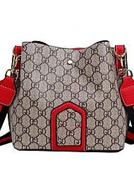 olcso -Női Táskák Poliészter / PU Vállon átvetős táska Cipzár Rács Rubin / Arcpír rózsaszín / Kávé