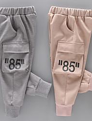 abordables -Enfants Garçon Chic de Rue Imprimé Imprimé Coton Pantalons Gris