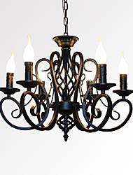 Недорогие -6-Light Свеча-стиль Люстры и лампы Рассеянное освещение Окрашенные отделки Металл Свеча Стиль 110-120Вольт / 220-240Вольт Лампочки не включены / E12 / E14