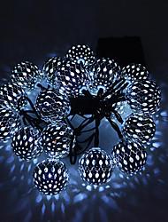 preiswerte -1 satz led laterne solar lichterkette 15 mt 100 licht marokkanischen ball eisenkugel im freien wasserdichtes licht garten dekoration licht