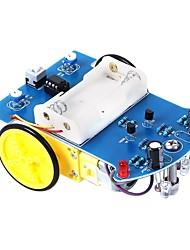 Недорогие -d2-1 интеллектуальная линия слежения умный автомобильный комплект tt motor электронный diy kit
