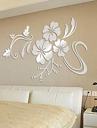 Cheap Wall Stickers Decorative Wall Stickers   3D Wall Stickers / Mirror  Wall Stickers Floral