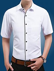 billige -Herre - Ensfarvet Skjorte Blå 43