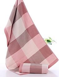 Недорогие -Высшее качество Полотенца для мытья, В клетку Чистый хлопок 2 pcs