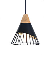 Недорогие -шишка / Фонариком Подвесные лампы Потолочный светильник Окрашенные отделки Металл дерево 110-120Вольт / 220-240Вольт Теплый белый / Холодный белый