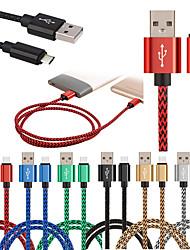 Недорогие -тип-с металлическая льняная плетеная мобильная зарядная линия USB универсальная линия передачи данных-100см