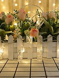 Недорогие -1,2 м 10 светодиоды для фото-клипс держатели для струнных светильников теплые белые комнаты декоративные батарейки 1 комплект