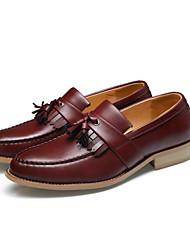abordables -Homme Chaussures Formal Microfibre / Polyuréthane Printemps été Mocassins et Chaussons+D6148 Noir / Marron / Rouge / Gland / Soirée & Evénement