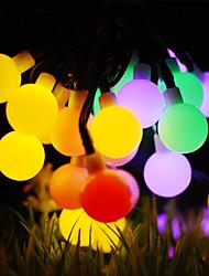 preiswerte -50m Leuchtgirlanden 500 LEDs 1Set Montagehalterung Warmes Weiß / RGB / Weiß Wasserfest / Solar / Kreativ Solarbetrieben 1 set